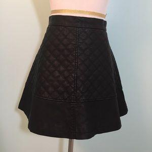TCEC Faux Leather Miniskirt